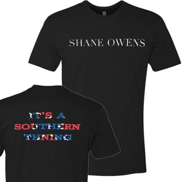 Shane Owens Black Tee- It's A Southern Thing