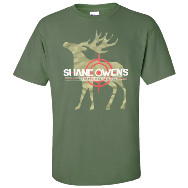 Shane Owens Military Green Buck Tee